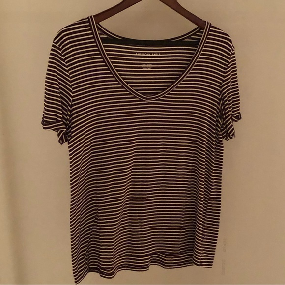 Brand new Burgundy/white stripped top
